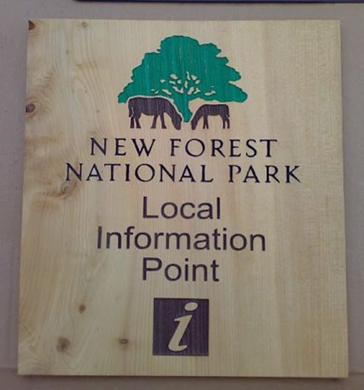 Information-point-sign-new-forest